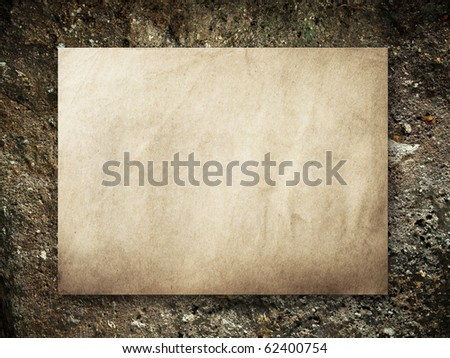 Old paper on Nature stone background