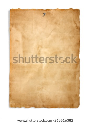Old paper on the white background - stock photo