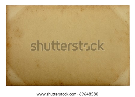 old paper on white background - stock photo