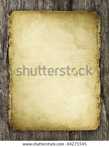 old paper on wood texture with natural patterns - stock photo