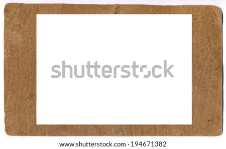 Old paper photo frame - stock photo