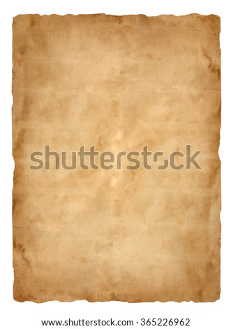 old paper sheet background - stock photo