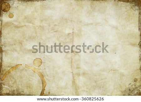 Old paper sheet texture - stock photo