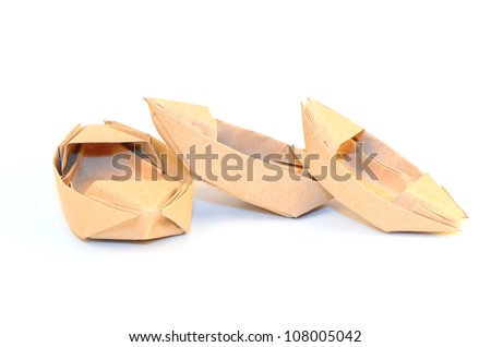 old paper ship. - stock photo