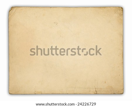 old paper texture isolated on white background