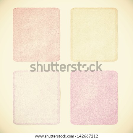 Old Paper texture ,Talk tag on vintage tone  background - stock photo