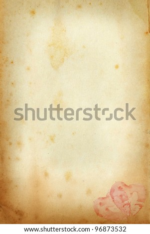 old paper with blank - stock photo