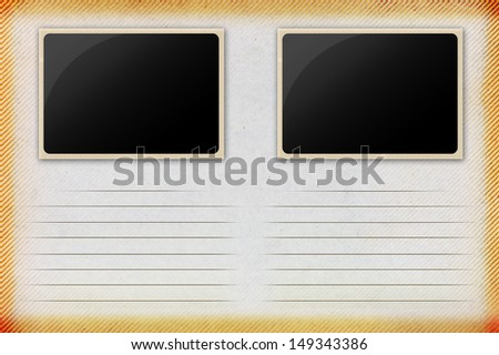 Old paper with frame,Vintage style - stock photo