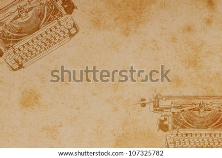 Old paper with Typewriter Pattern.Vintage background.