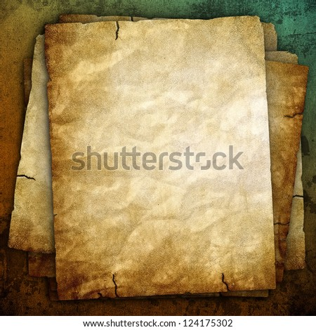 old papers background - stock photo