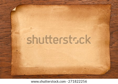 old papers texture on brown background. - stock photo