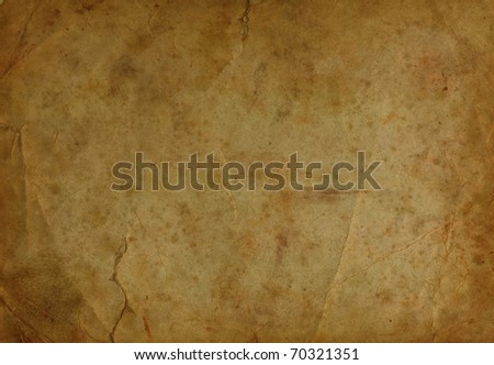 old parchment paper with shabby - stock photo