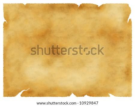 Old parchment vintage background, paper texture, golden colors - stock photo