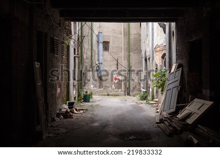 Old passage - stock photo