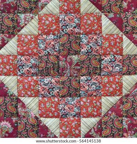 Old Patchwork Quilt Ba...