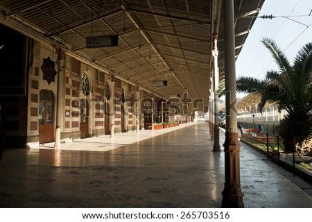 Old Perron on Sirkeci railway station, Istanbul, Turkey - stock photo