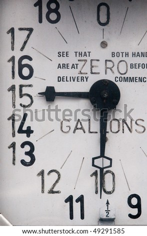 Old petrol pump - stock photo