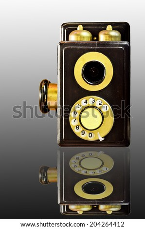 Old phone - stock photo