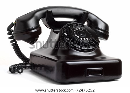 Old phone - stock photo