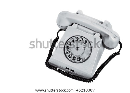 Old Phone (with clipping path) - stock photo