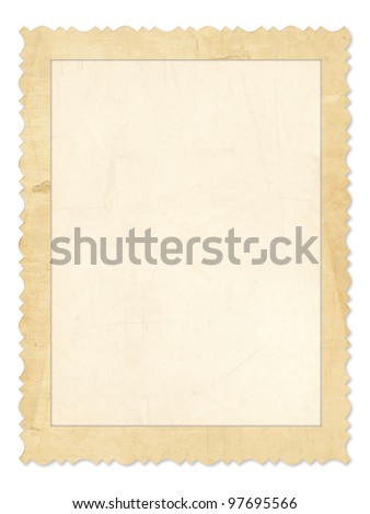 Old photo frame over the white background - stock photo