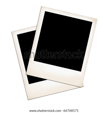 Old Photo Frames isolated on white. - stock photo