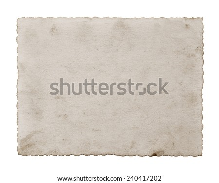 Old photo isolated on white - stock photo