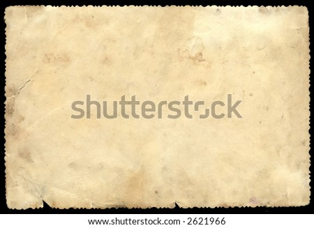 Old Photo Paper with cuted edge - stock photo