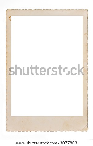 Old photo,with space for your own photo. - stock photo