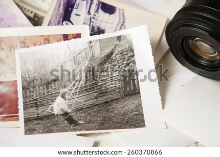Old photograph memories  - stock photo
