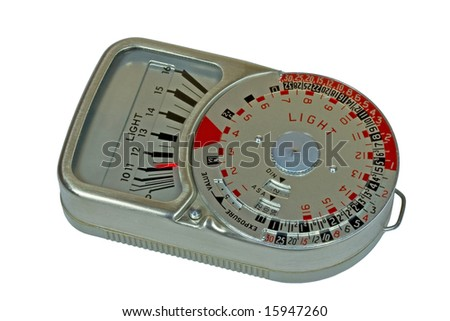 Old photography light meter - stock photo