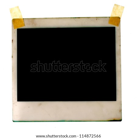 Old photos on white background - stock photo