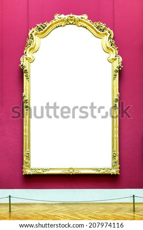 old picture frame at a museum - nice background with copy space - stock photo