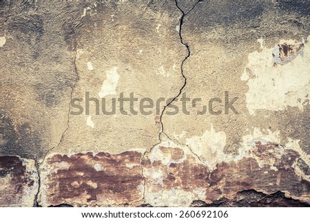 old plaster - stock photo