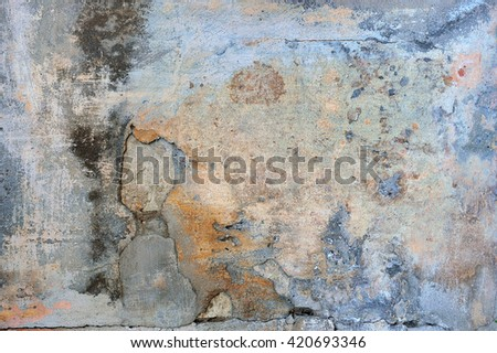 old plaster wall  background - stock photo