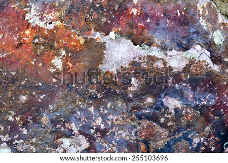 Old plaster wall with leaved paint  - stock photo