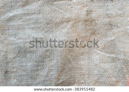 Old plastic sack texture closeup