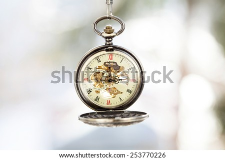 Old pocket watch - stock photo