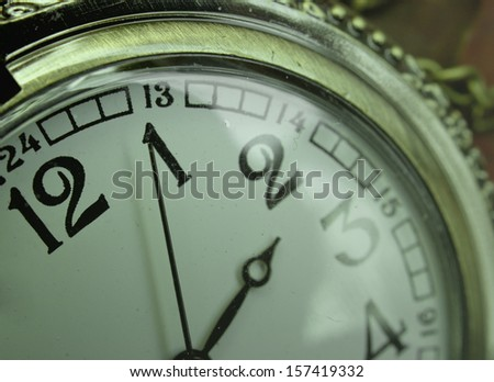 old pocket watch abstract background