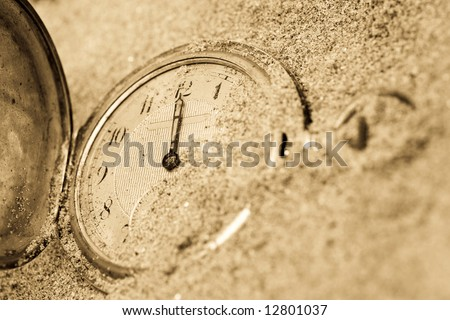 Old Pocket Watch Lost Sand Stock Photo 12801034 Shutterstock