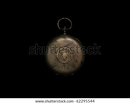 Old pocket watch cover - stock photo