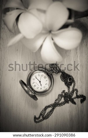 old pocket watch, vintage - stock photo