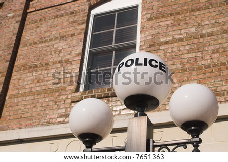 Old Police Station - stock photo