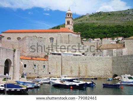 Old port of Dubrovnik, Croatia - stock photo