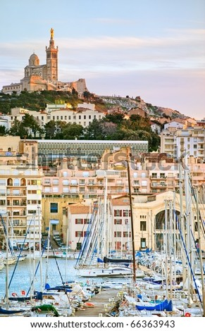 Old port of Marseilles, France - stock photo