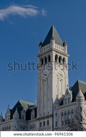 Old Post Office tower in Washington DC, United States - stock photo