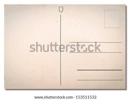 Old postcard background, grunge texture - stock photo