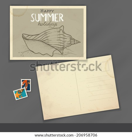 Old Postcard Design, Template