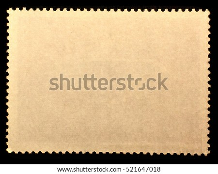 Old Posted Stamp Reverse Side Edge Stock Photo 521647018