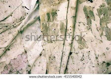 Old posters / Ripped posters / Grunge textures and backgrounds and ripped paper and torn posters - stock photo
